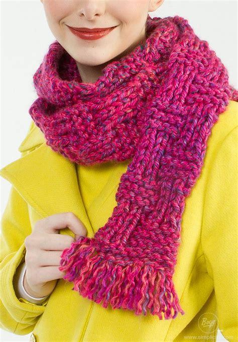 boye knitting patterns cozy hourglass stylish scarf is knit using