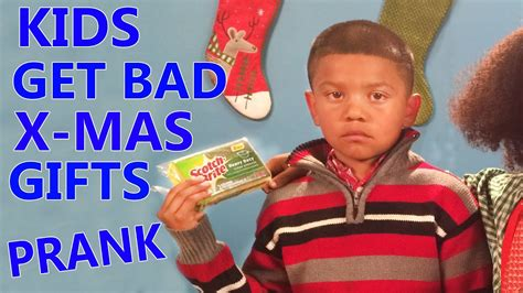 shitty christmas gift open bad gifts prank 2014 doovi