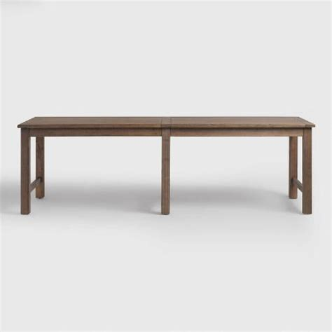 distressed brown wood gulianna extra long dining bench distressed brown wood gulianna extra long dining table