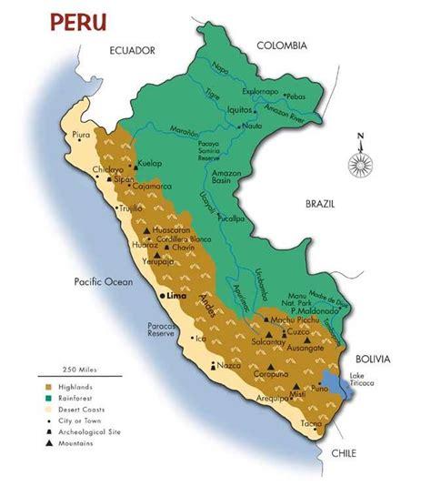 map of peru map of peru southwind adventures