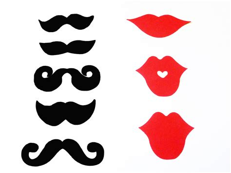 free printable moustache and lips photo booth props mustache lips photobooth props photo prop ideas
