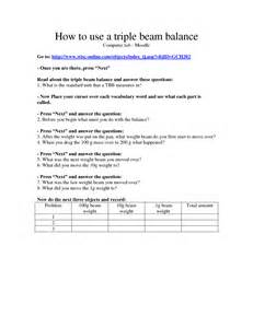 16 best images of triple beam balance worksheet problems