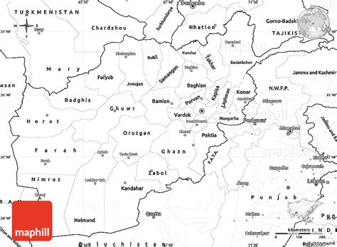 Afghanistan Country Map Outline by Afghanistan Map Printable