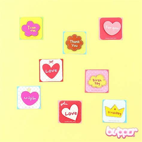 Mini Greeting Card Set mini korean greeting card set 8pcs blippo kawaii shop