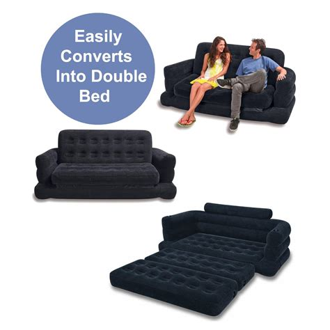 intex inflatable sofa bed new intex inflatable pull out sofa bed couch settee queen