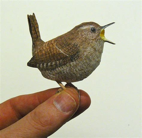 incredibly realistic 3d papercraft birds