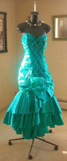 popular 80s prom color 80 s prom dress mermaid green metallic colors the o