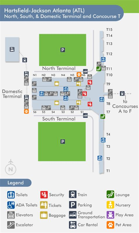 atl terminal map atlanta airport food map my