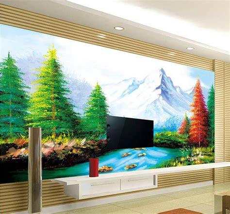 custom wallpaper papel de parede hd  landscape painting