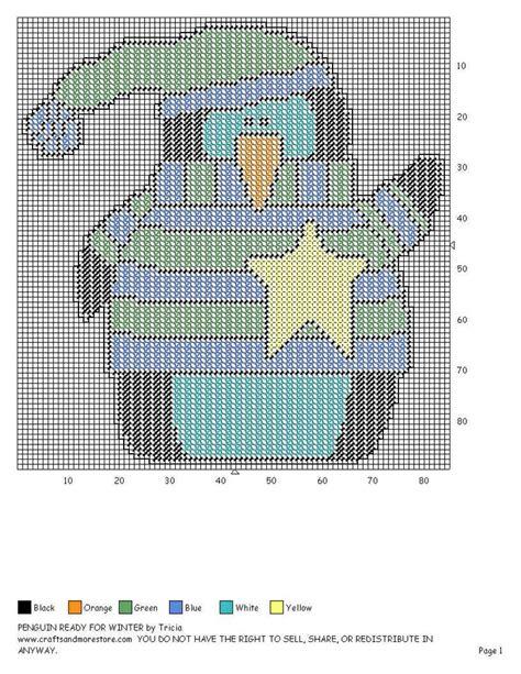 Winter Hat Wh 44 44 best plastic canvas penguins images on