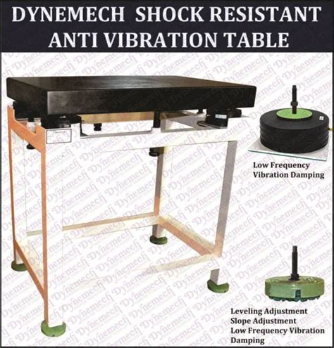 vibration isolated table with granite surface plate for