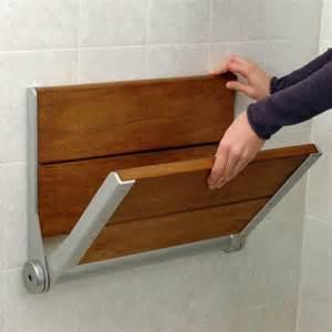 serena fold up wood shower seat ada compliant bathroom
