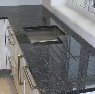 steel grey granite worktops contemporary manchester