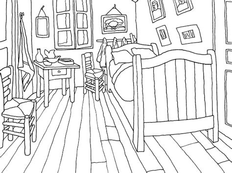 van gogh bedroom coloring page colouring page of the bedroom van gogh museum l