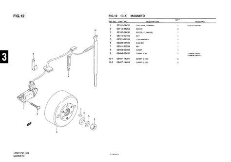 Suzuki Lt50 Parts Uk Genuine Suzuki Lt50 Mini Atv Magneto Primary Coil