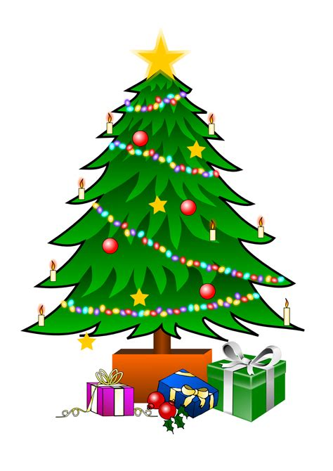 christmas tree clip art with lights clipart panda free