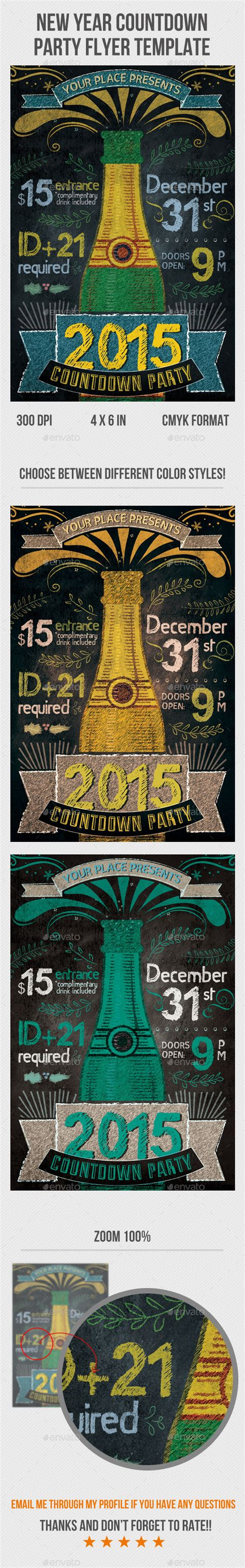New Year Countdown Flyer Template Graphicriver Countdown Poster Template