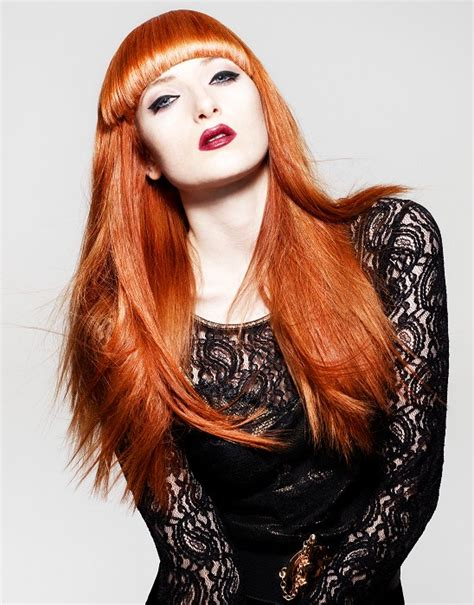 hairstyles for long straight red hair a long red hairstyle from the balmain hair ambassador s