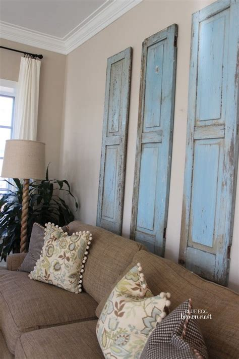 Living Room Above Bedroom 7 Inspiring Ways To Use Vintage Shutters On Your Walls