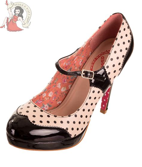 shoes in style banned patent polka dot 50s vintage style shoes