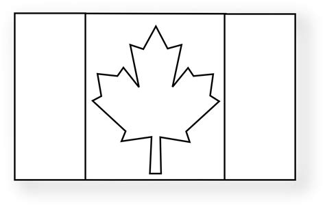 Canada Flag Clipart Black And White Clipartsgram Com Canada Flag Coloring Page