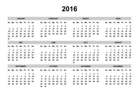 printable calendar 2016 big numbers svensk kalender f 246 r 2016 calendian