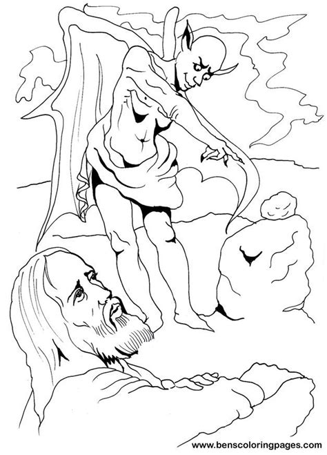 coloring pages jesus is tempted temptation of jesus coloring page az coloring pages