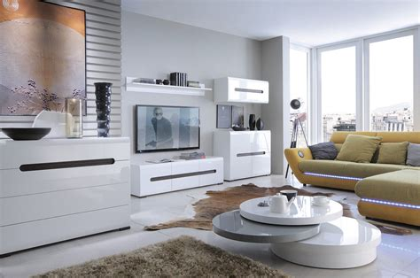 High Gloss Living Room Furniture Uk High Gloss White Living Room Furniture New Tv Stand Cabinet Cupboard Azteca Ebay