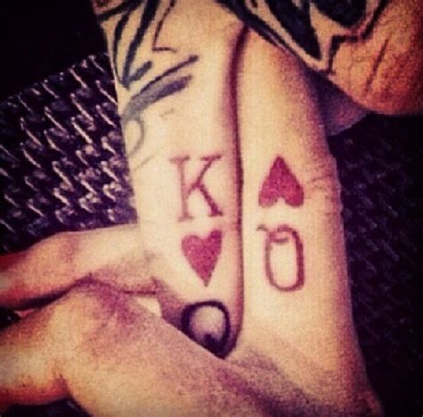 his and her king and queen tattoos king and for luis and i in vegas will