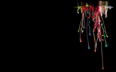 digital art minimalism simple background paint splatter