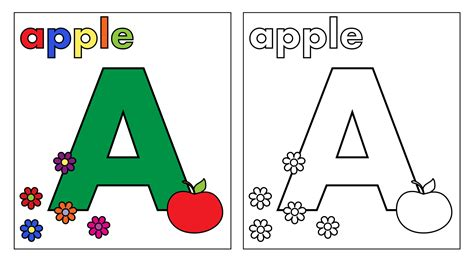 letter a coloring page free stock photo domain