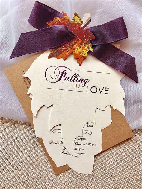 fall wedding invitation designs examples  psd