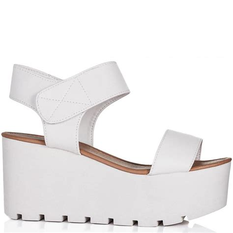 buy sun wedge heel platform flatform sandal shoes white