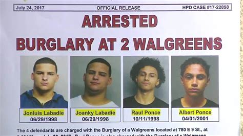 Walgreens Hialeah Gardens by 4 Arrested In Connection With Hialeah Walgreens Burglary
