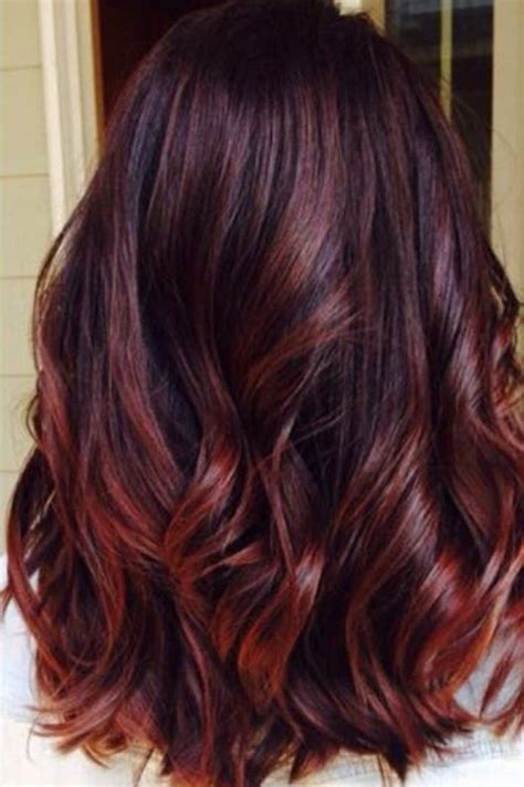 brunette red hairstyles brunette hair color with red highlights best 25 red