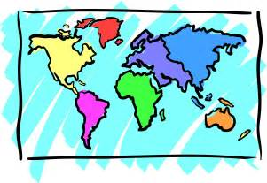 map of the world simple clipart best