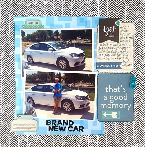 scrapbook layout new car 31 best license to drive layouts images on pinterest