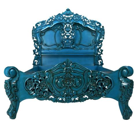 baroque bed frame rococo bed king blue baroque blue lagoon and highlights
