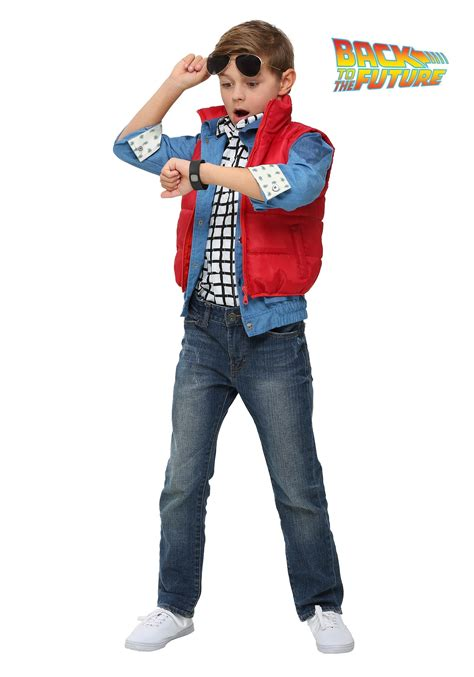women s marty mcfly costume back to the future child marty mcfly costume