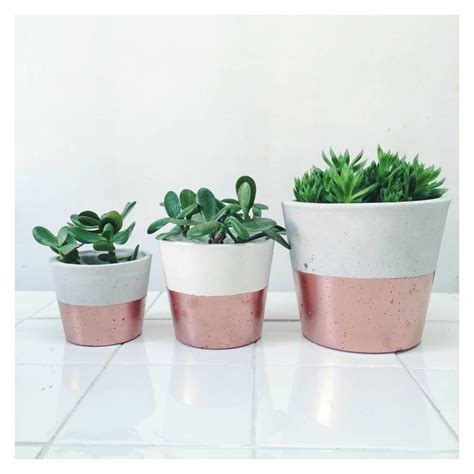 Copper Planters Uk by Copper Dipped Cement Planters By Sort Cement