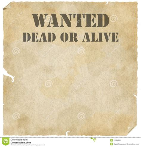 tutorial wanted dead or alive grunge wanted dead or alive poster stock photo image of