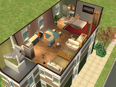 Sims 2 Apartment Tpb Mod The Sims Heron Apartments Fully Furnished 1