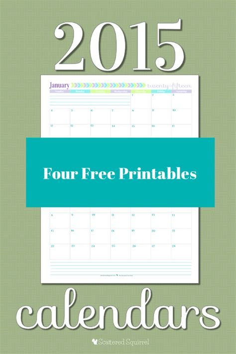 printable calendar scattered squirrel 2015 calendar printables you asked i m answering