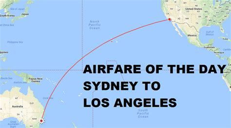 airfare of the day united airlines sydney to los angeles economy class 770 trip