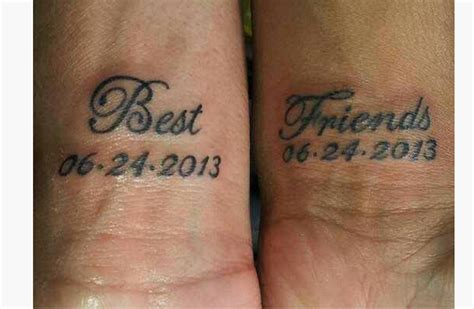 29 attractive best friends wrist tattoos
