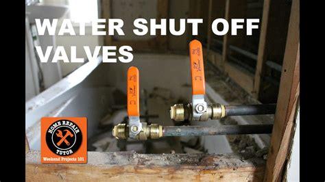 install  water shut  valve   bathroom step