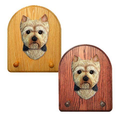 yorkie leash terrier wooden oak key leash rack hanger puppy cut