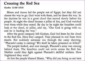 crossing the sea moses story korner biblewise