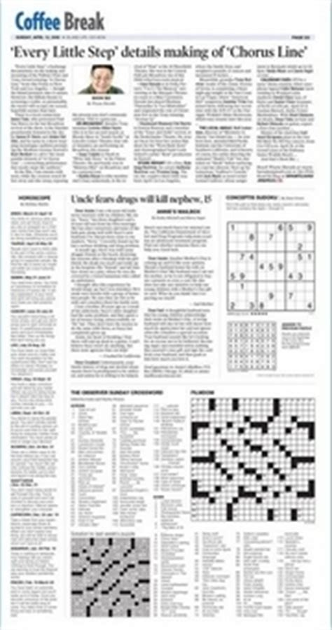 newspaper section crossword hawaii news photo the honolulu advertiser