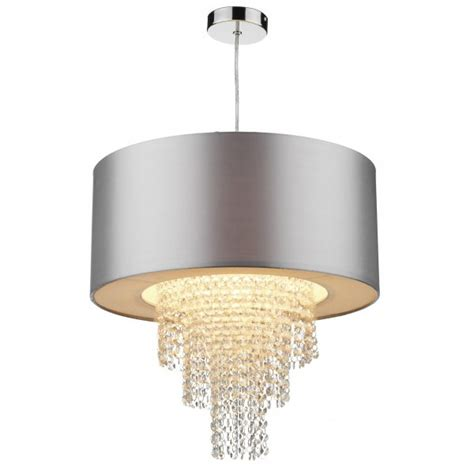 Easy Fit Ceiling Lights Easy Fit Non Electric Silver Faux Silk Ceiling Shade